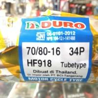 BAN LUAR DURO UKURAN 70 /80 -16 TUBETYPE