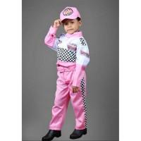 Kostum pembalap cewek -Baju profesi balap-Seragam balap-Seragam TK