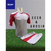Baju Futsal Kaos Futsal Setelan Futsal Jersey Nike Puma Abu Merah