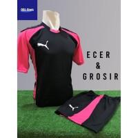 Baju Futsal Kaos Futsal Setelan Futsal Jersey Nike Puma Hitam Pink