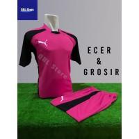 Baju Futsal Kaos Futsal Setelan Futsal Jersey Nike Puma Pink Hitam