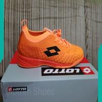 NEW Sepatu Futsal Lotto Spark IN beat orange original ASLI