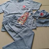 Baju Seragam Kostum Karnaval Profesi Dokter Bedah Biru Muda