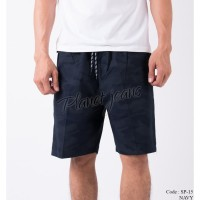 Celana pendek cargo navy camo pria short pants army karet SP15
