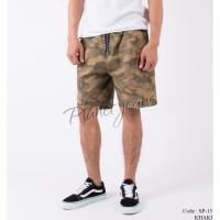 Celana pendek cargo khaki camo pria short pants army karet SP15