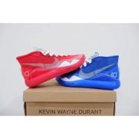 sepatu basket nike kd 12 fire & ice blue red grade original