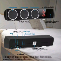 Gresik ip cam spy camera cctv wifi model speaker bluetooth T-3 wi-fi