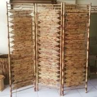 Sketsel/Partisi/Pembatas Ruangan Dari Bambu Cendani Unik