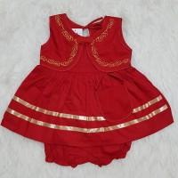 Baju Anak Bayi Perempuan Newborn Kancing Cina Bordir