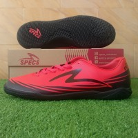 Specs Sparta IN (Sepatu Futsal) - Emperor Red/Black - 37
