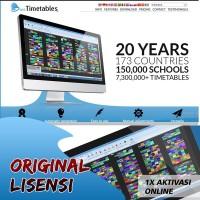 DVD PROGRAM software aplikasi jadwal pelajaran asc timetables