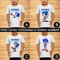 Sonic The Hedgehog Baju Kaos Anak dan Balita Custom Teks/Nama