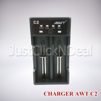 Authentic AWT C2 Fast Charging 2A USB Charger Baterai 18650 26650