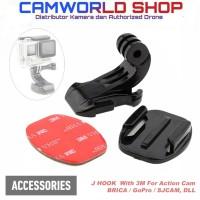 J Hook 3M Mount Adapter Bracket Action Cam GoPro - Brica - YI - SJCam