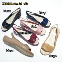 jelly shoes bara bara sepatu wanita karet tali import ZH8086