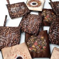 Pouch Coklat untuk penggemar Kopi atau Coffee khusus reseller grosir