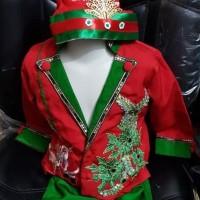 baju fashion show tema merah hijau Natal