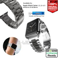 Apple Watch Stainless Steel Strap Tali Jam iWatch Series 1 2 3 4 5 - 40 38 mm, Silver