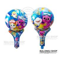 Balon Foil Tongkat Baby Shark / Balon Pentung Baby Shark