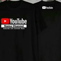 Kaos baju youtube bisa pakai nama channel sendiri
