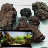 1 kg batu lava rock lava rough aquarium aquascape