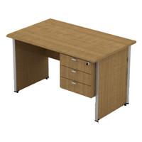 Meja Kantor Pod 1260 + Laci (3 ruang laci)