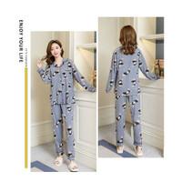 Baju Tidur Santai Piyama Fashion Wanita Dewasa Rabbit Kaos Impor