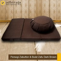 Matras/ Bantal/ Alas Duduk Meditasi Persegi Zabutton &Bulat Zafu Brown