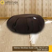 Matras / bantal / alas Meditasi/ bantal doa/ bantal duduk bulat brown