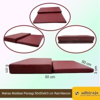 Matras/ bantal/ alas Meditasi/ bantal doa/ bantal duduk Red maroon