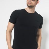 The One Tshirt - Longline Spandex - Roundneck Kantong - Hitam