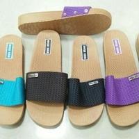 New Era Sandal Sendal Selop Slip On Karet Jelly Wanita - Hitam, 36