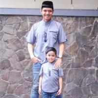 Baju Muslim Koko Couple Dewasa Anak Bayi Premium Ahzarayy Ori. Kurta