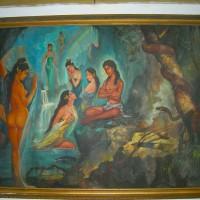 Barang Antik Lukisan Kuno Arjuna Wiwaha