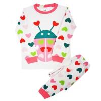 Baju tidur anak/piyama/baju anak/Love ladybug 4-10T
