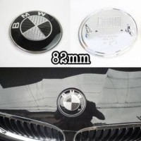 Emblem BMW Hitam Putih Carbon 82mm kap depan Bagasi 82 mm badge logo