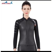 Wetsuit baju selam neoprene 3 mm Dive and Sail X mant wetsuit jacket