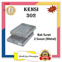 KENSI 302 BAK SURAT 2 SUSUN (METAL)