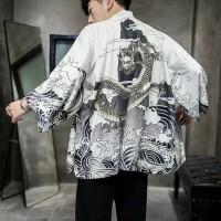 Baju Pria Cardigan Kimono Adat Tradisional Gaya Jepang Japan Festival