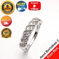 RL 218 - Cincin Perak Sterling 925 Emas Putih ASLI Korea, Awet 7 thn