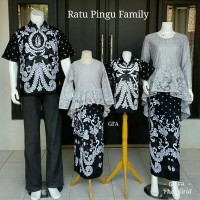 Couple Batik Kebaya Set Keluarga/Set Batik Kebaya Keluarga Baju Pesta