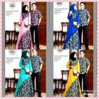 Baju batik Couple Batik Prada Gamis dnan Hem