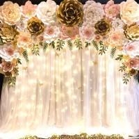 paper flower backdrop 4 (free kain putih)