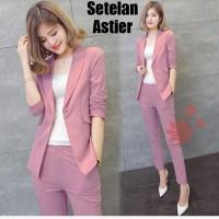 Setelan Blazer + Celana Pjg Wanita ( Cocok utk Kantoran )
