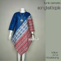 tunik batik atasan blouse baju modern kain songket m l xl jumbo pesta