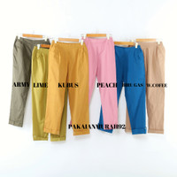 Baggy Pants Wanita Murah Bahan Katun Stretch ALLSIZE-XL-XXL-3XL-4XL - ALL SIZE