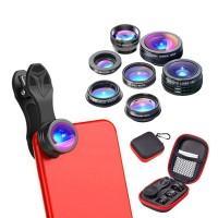 APEXEL 7in1 Set Lensa Kamera Untuk iPhone 6S 7P 7 zji