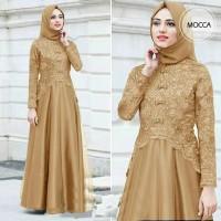Gamis Maxi / Pakaian Baju Dress Wanita Muslim Keiko Brukat Glitter HQ