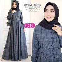 Gamis Perempuan Muslim Syari Ovila Dress All Size M fit L Terbaru