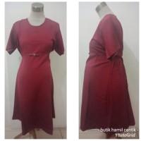 Baju tunik Dress Hamil kantor kerja natal merah party pesta kode 2392